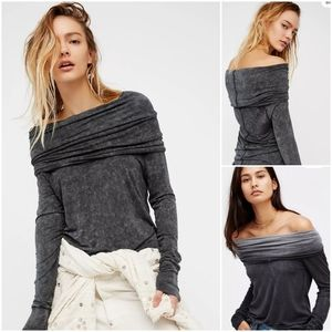 We The Free People Cosmo Cawl Long Sleeve Top XS